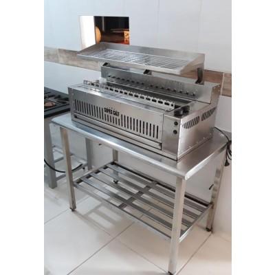 Churrasqueira Super Chef em Inox p/ 240 Espetinhos hora a Gás